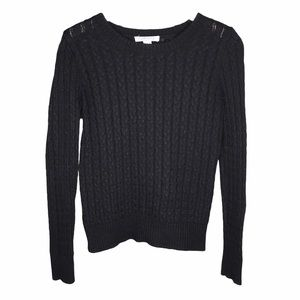 5/$25 BUNDLE Soft Black Cableknit Pullover Sweater